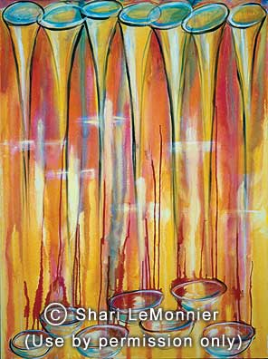 Trumpets and Bowls, Christian Fine Art by Shari LeMonnier.